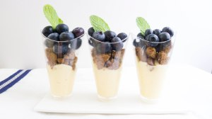 Blueberry Vanilla Custard Parfait
